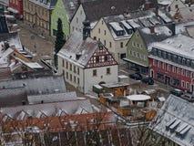 Oud stadhuis van Pegnitz Mening van observatietoren Royalty-vrije Stock Fotografie