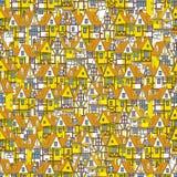 Oud stads naadloos patroon Stock Afbeelding