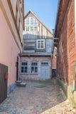 Oud stadscentrum in Kuldiga, Letland Royalty-vrije Stock Afbeeldingen