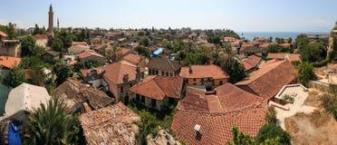 Oud stadsdistrict in Antalya, Turkije Stock Foto