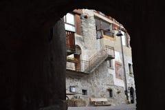 Oud stadsdorp Rango Trentino, selectie één van het mooiste dorp in Italië Royalty-vrije Stock Fotografie