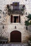 Oud stadslandschap, Perast, Kotor-Baai, Montenegro Royalty-vrije Stock Foto's