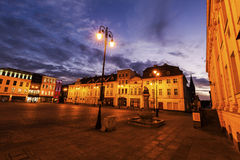 Oud stadsvierkant in Bydgoszcz Royalty-vrije Stock Foto's