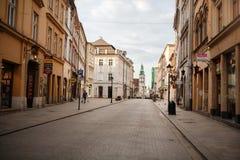 Oud stadsvierkant, markt, Krakau 12 Juni 2016 Royalty-vrije Stock Afbeeldingen