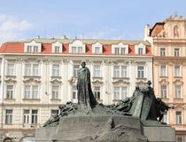 Oud stadsvierkant in Praag Stock Afbeelding
