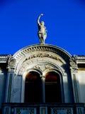 Oud Standbeeld in Eiland Vis Stock Afbeelding