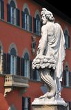 Oud standbeeld in Florence, Italië stock afbeelding