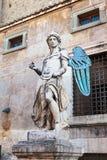 Oud standbeeld van Michael de Aartsengel Royalty-vrije Stock Fotografie