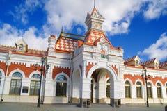 Oud station Royalty-vrije Stock Afbeeldingen