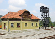 Oud station Stock Fotografie