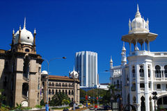 Oud Station, Kuala Lumpur, Maleisië. Stock Foto's