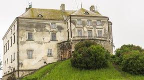 Oud steen gotisch kasteel Stock Foto's