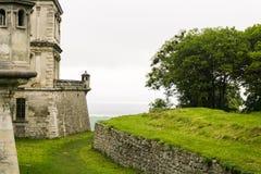 Oud steen gotisch kasteel Royalty-vrije Stock Afbeelding