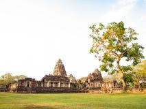 Oud steenkasteel, Phimai Thailand royalty-vrije stock afbeeldingen