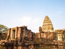 Oud steenkasteel, Phimai Thailand stock fotografie