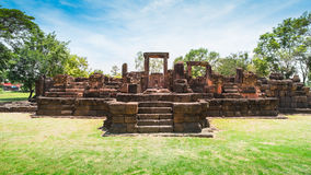 Oud steenkasteel, Thailand royalty-vrije stock afbeelding