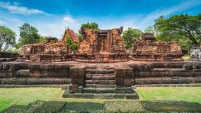 Oud steenkasteel, Thailand royalty-vrije stock afbeeldingen