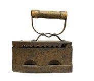 Oud steenkoolijzer Royalty-vrije Stock Afbeeldingen