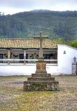 Oud steenkruis Stock Afbeelding