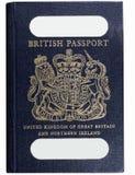 Oud stijl Brits paspoort Royalty-vrije Stock Afbeeldingen