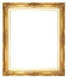 Oud stijl goldern houten frame Stock Fotografie