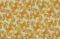 Oud stijl middeleeuws bloemen overladen vectorpatroon Royalty-vrije Stock Afbeelding