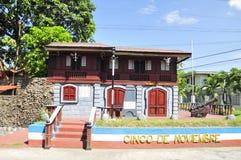 Oud stijlhuis op Bacolod Royalty-vrije Stock Afbeeldingen