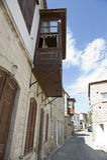 Oud straat en huis in Alacati Royalty-vrije Stock Fotografie