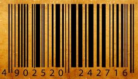 Oud streepjescodeetiket Stock Afbeeldingen