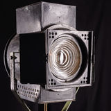 Oud studiolicht op het knippen movie Fresnel lens Royalty-vrije Stock Fotografie