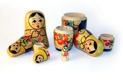 Oud stuk speelgoed, een genestelde pop Royalty-vrije Stock Afbeelding