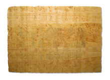 Oud stuk van papyrustextuur Stock Foto
