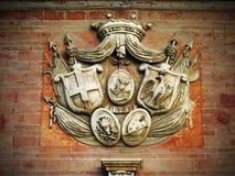 Oud symbool van Ortigia (Sicilië) Royalty-vrije Stock Afbeeldingen