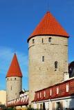 Oud Tallinn, Estland. Twee torens royalty-vrije stock afbeelding