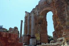 Oud Taormina-theater royalty-vrije stock afbeelding