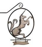 Oud teken met eenhoorn Stock Foto