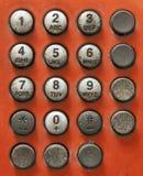 Oud telefoonaantal en pers strak Royalty-vrije Stock Foto