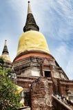 Oud Tempel en Standbeeld Boedha van Ayutthaya Thailand Stock Foto