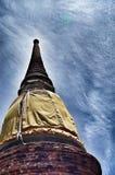 Oud Tempel en Standbeeld Boedha van Ayutthaya Thailand Royalty-vrije Stock Afbeeldingen