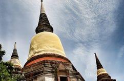 Oud Tempel en Standbeeld Boedha van Ayutthaya Thailand Royalty-vrije Stock Fotografie