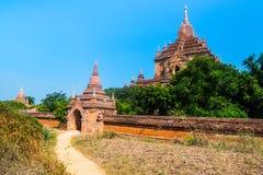 Oud tempelpaleis in Bagan, Myanmar Stock Afbeeldingen
