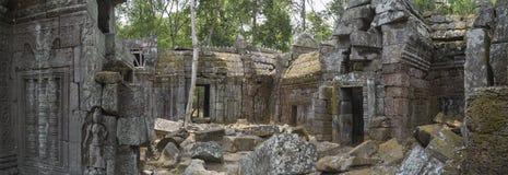 Oud tempelpanorama royalty-vrije stock foto