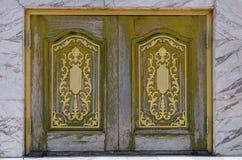 Oud tempelvenster in Thailand Royalty-vrije Stock Afbeeldingen