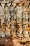 Oud textuurpatroon op pagodemuur Royalty-vrije Stock Foto