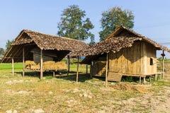 Oud Thais Huis, Lanna Style stock foto