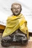 Oud Thais monniksstandbeeld Royalty-vrije Stock Foto's