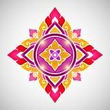 Oud Thais patroon, zeer modieuze decoratief Stock Foto