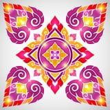 Oud Thais patroon, zeer modieuze decoratief Stock Afbeeldingen