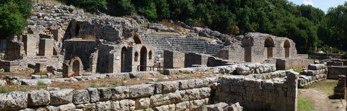 Oud theater in Butrint, Albanië stock afbeeldingen