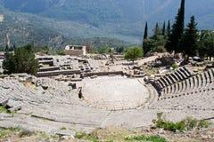 Oud theater in Delphi Griekenland royalty-vrije stock afbeeldingen